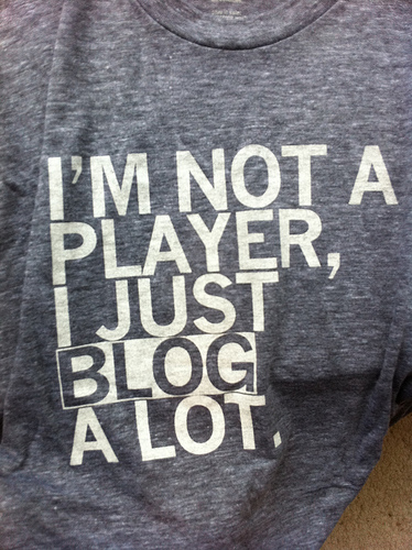 Im not a player I just blog