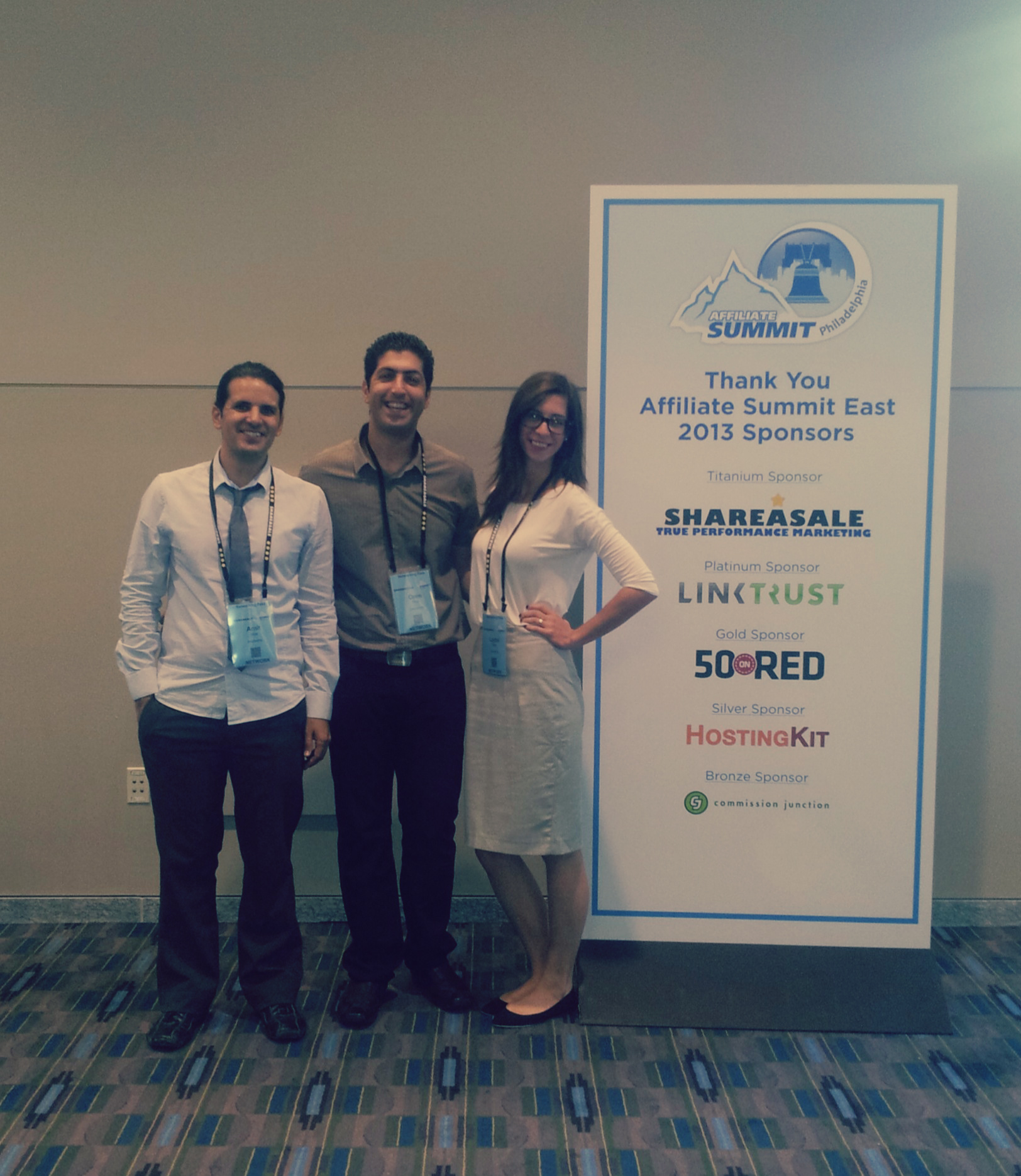 Our team at the affiliate summit