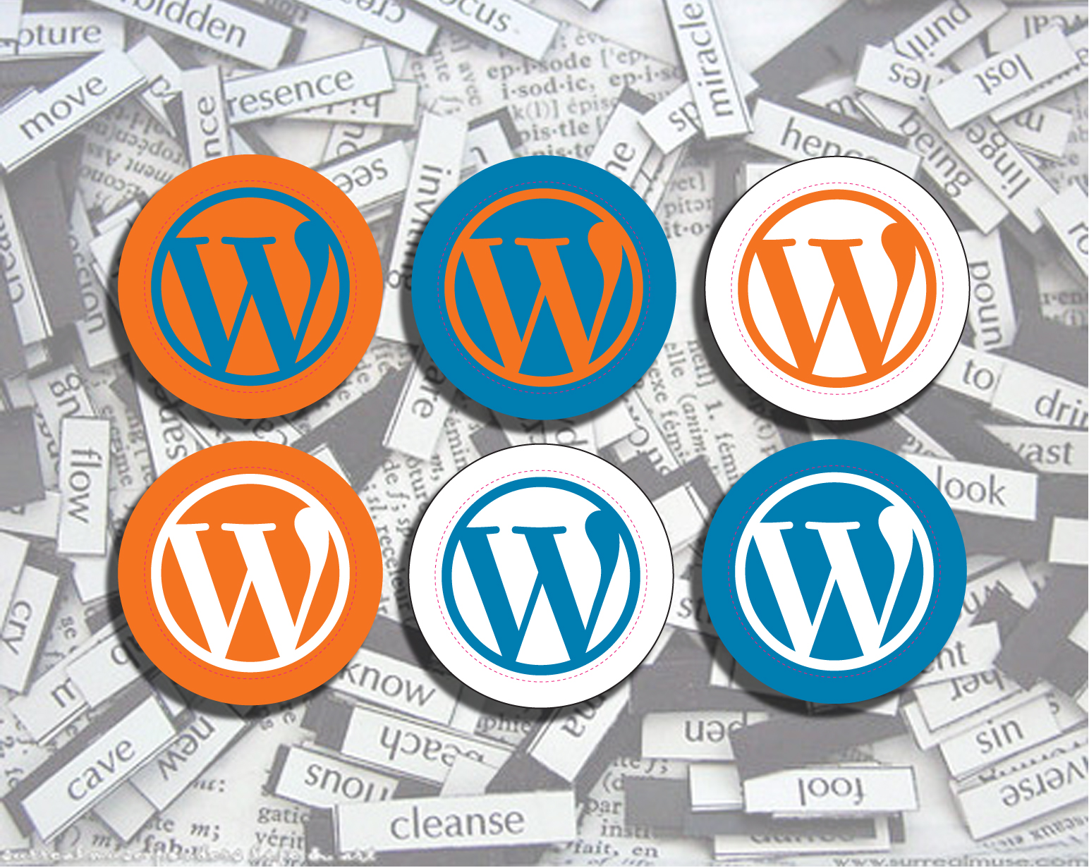 WordPress Stickers Everywhere by John Fischer, licensed CC BY 2.0 (https://flic.kr/p/6K84Ek)