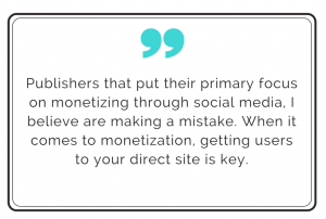 Quote about high traffic website monetization