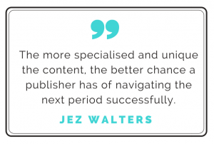 Jez Walters quote about strategy to improve ad revenues