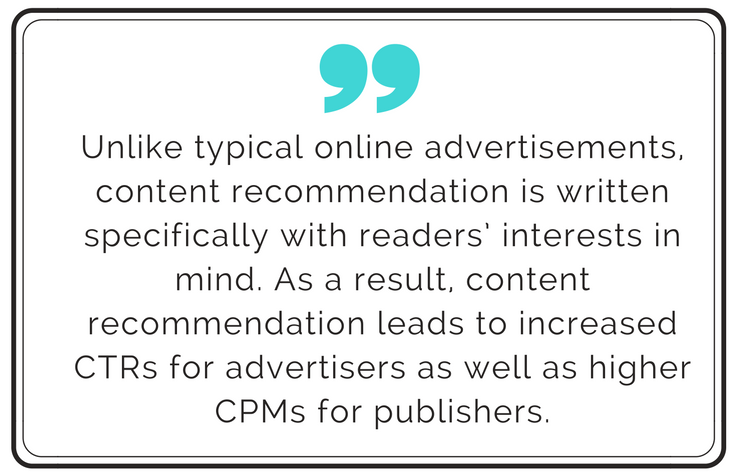 quote about content recommendation data