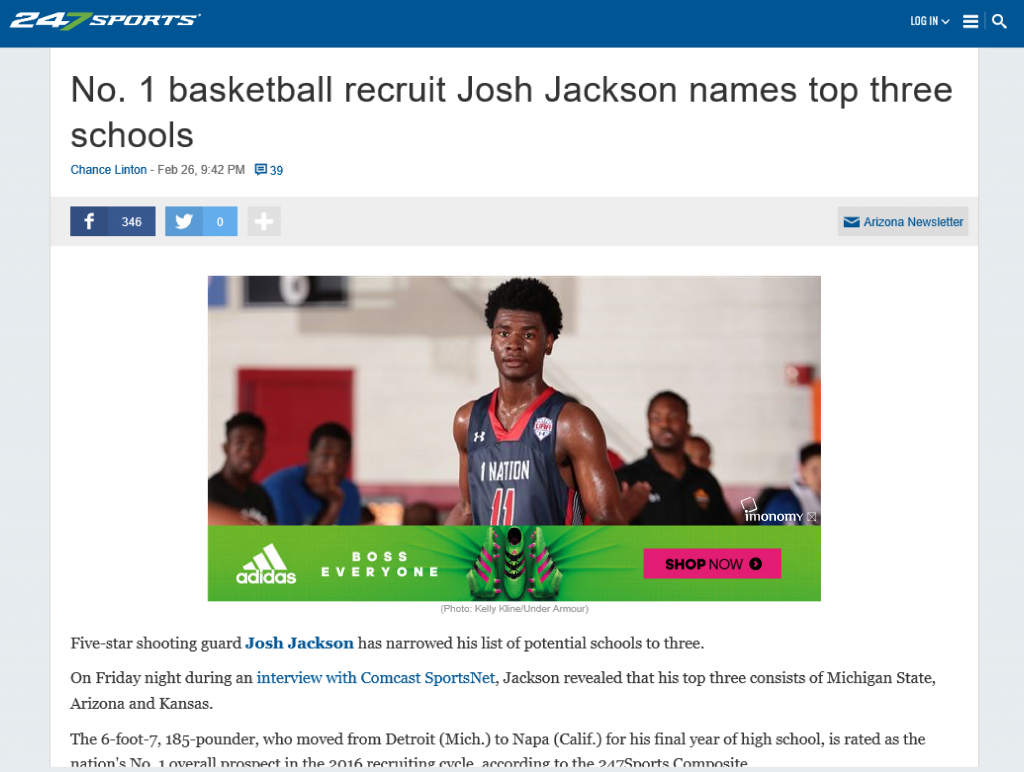 247Sports In Image Advertising