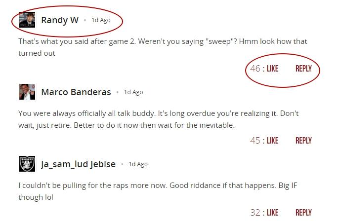 bleacher report comments section