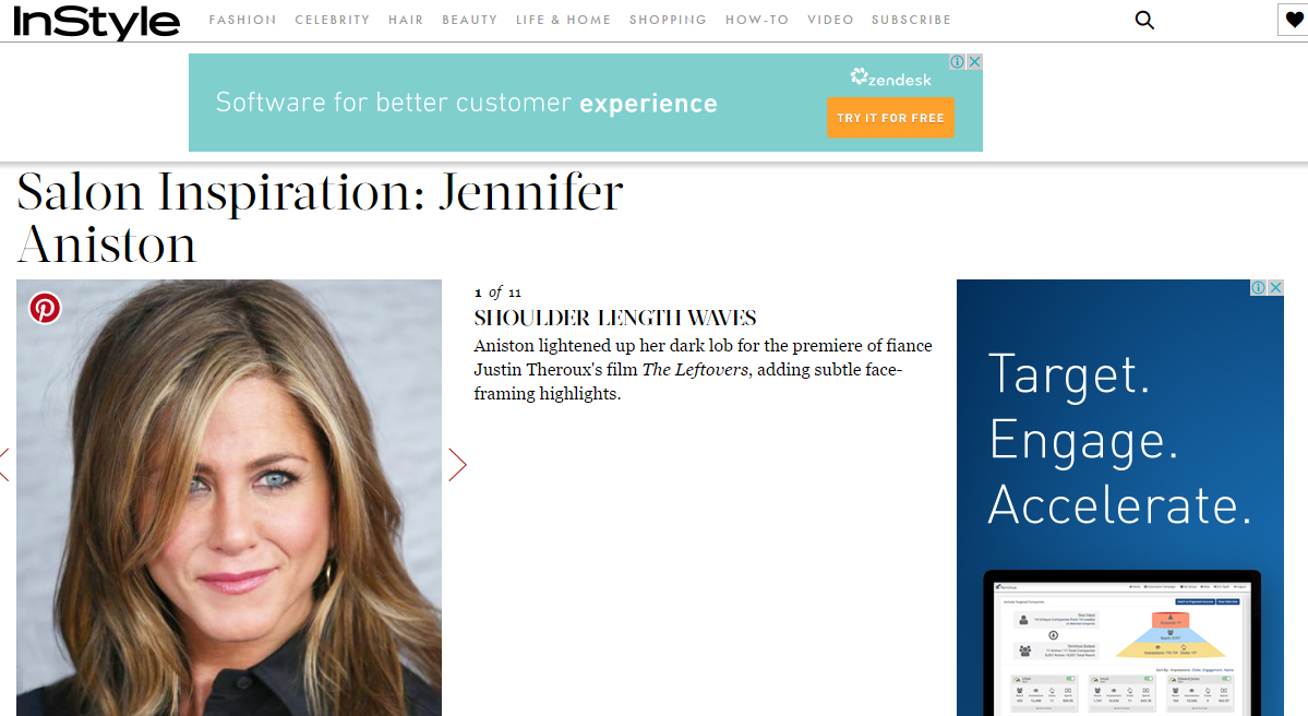 Instyle website - diverse ad networks