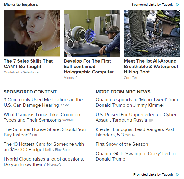 nbc news publisher content recommendation advertisements