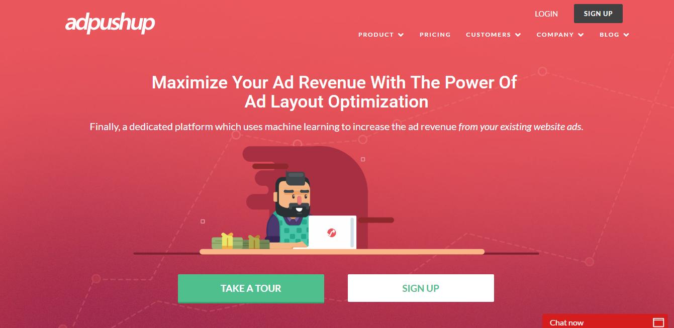 AdPushup website