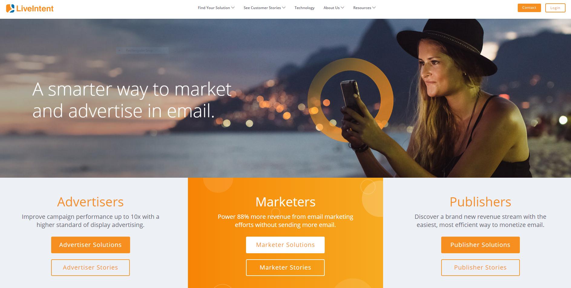 LiveIntent website
