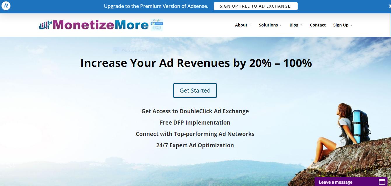 MonetizeMore website