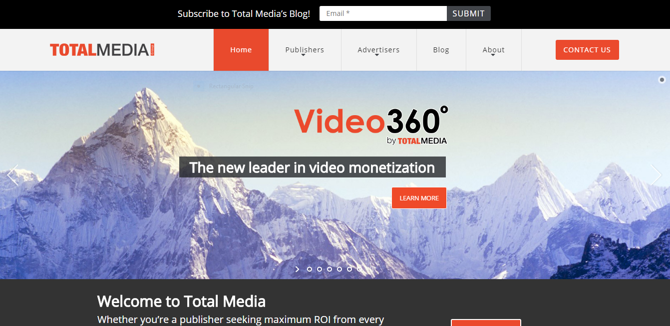Total Media website