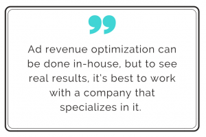 ad revenue optimization quote